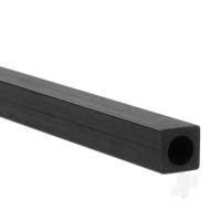 1m 6mm Carbon Fibre Square-Round Tube, 4.1mm Centre Hole