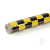 2m Oracover Fun-3 Large Chequered Yellow/Black