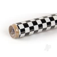 2m Oracover Fun-4 Small Chequered White/Black
