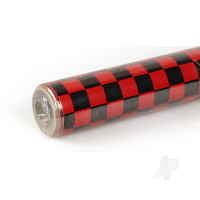 2m Oracover Fun-4 Small Chequered Red/Black