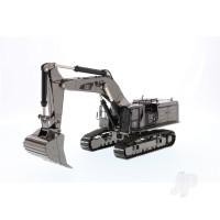 1:50 Cat 390F L Hydraulic Excavator - Gunmetal Finish