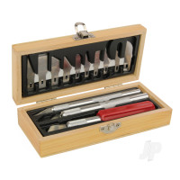 Hobby Knife Set, Wooden Box (Boxed)