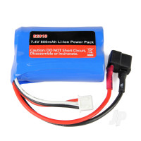 LiIon 7.4V 800mAh Battery Pack