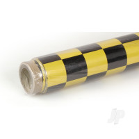 2m Oracover Fun-3 Large Chequered Pearl Yellow/Black
