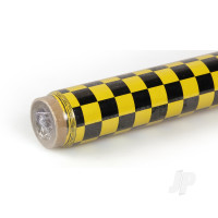 2m Oracover Fun-4 Small Chequered Yellow/Black