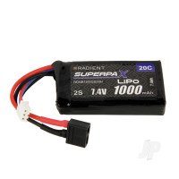 LiPo 2S 1000mAh 7.4V 20C Deans (HCT)
