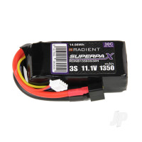 LiPo 3S 1350mAh 11.1V 30C Deans (HCT)