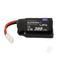 LiPo 1S 300mAh 3.7V 22C Mini (Fits Sonic P-51 & Cub)