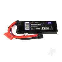 LiPo 2S 2200mAh 7.4V 25C Deans (HCT)