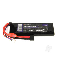 LiPo 2S 3300mAh 7.4V 25C Deans (HCT)