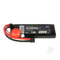 LiPo 2S 4000mAh 7.4V 25C Deans (HCT)