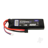LiPo 2S 4000mAh 7.4V 50C Deans (HCT)
