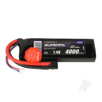 LiPo 2S 4000mAh 7.4V 65C Deans (HCT)