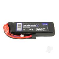 LiPo 2S 5000mAh 7.4V 20C Deans (HCT)