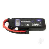 LiPo 2S 5000mAh 7.4V 50C Deans (HCT)