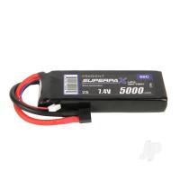 LiPo 2S 5000mAh 7.4V 60C Deans (HCT)