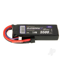 LiPo 2S 5500mAh 7.4V 30C Deans (HCT)