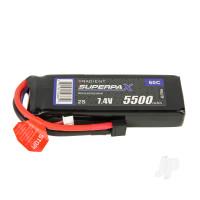 LiPo 2S 5500mAh 7.4V 60C Deans (HCT)