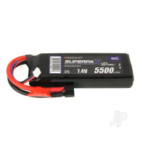 LiPo 2S 5500mAh 7.4V 80C Deans (HCT)