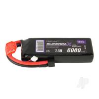 LiPo 2S 6000mAh 7.4V 100C Deans (HCT)