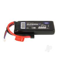 LiPo 2S 6000mAh 7.4V 25C Deans (HCT)