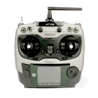 AT9S 2.4GHz 10-Channel Transmitter with Receiver (Silver) (Mode 1)