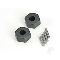Wheel Hubs, hex (2 pcs) / stub axle pins (2 pcs)