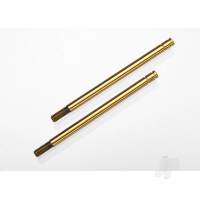 Shock shafts, hardened steel, titanium nitride coated (Long) (2pcs)