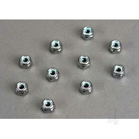 Nuts, 4mm nylon locking (10 pcs)