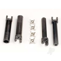 Half shafts, Long truck (external-splined (2 pcs) & internal-splined (2 pcs) / metal U-joints (4 pcs)