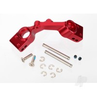 Carriers, stub axle (Red-anodized 6061-T6 aluminium) (Rear) (2 pcs)