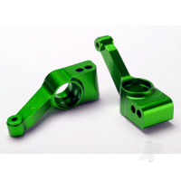 Carriers, stub axle (green-anodized 6061-T6 aluminium) (rear) (2pcs)