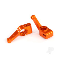 Carriers, stub axle (orange-anodized 6061-T6 aluminium) (Rear) (2 pcs)