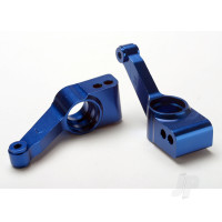 Carriers, stub axle (Blue-anodized 6061-T6 aluminium) (Rear) (2 pcs)