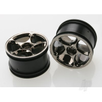 Wheels, Tracer 2.2in (black chrome) (2pcs) (Bandit rear)