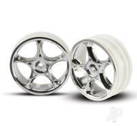 Wheels, Tracer 2.2in (chrome) (2pcs) (Bandit front)