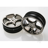 Wheels, Tracer 2.2in (black chrome) (2pcs) (Bandit front)