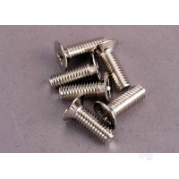 Screws, 4x12mm countersunk machine (100-degree) (6pcs)