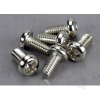 Screws, 3x6mm roundhead machine (6 pcs)