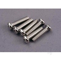 Screws, 3x12mm roundhead machine (6pcs)