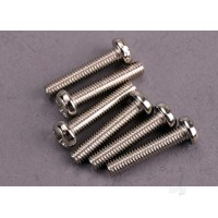 Screws, 3x15mm roundhead machine (6 pcs)