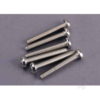 Screws, 3x20mm roundhead machine (6pcs)