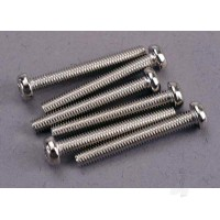 Screws, 3x23mm roundhead machine (6pcs)