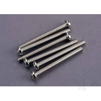 Screws, 3x30mm roundhead machine (6 pcs)