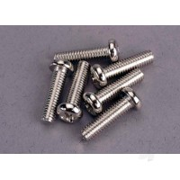 Screws, 4x15mm roundhead machine (6pcs)