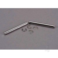 Suspension pins, 31.5mm, chrome (2 pcs) with E-clips (4 pcs)