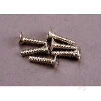 Screws, 3x12mm countersunk self-tapping (6 pcs)
