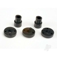 Piston head set (2-hole (2pcs) / 3-hole (2pcs)) / shock mounting bushings & washers (2pcs) (Big Bore shocks)