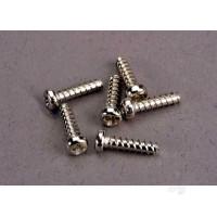 Screws, 2.6x10mm roundhead self-tapping (6pcs)