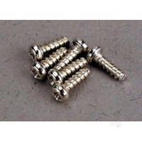 Screws, 2x6mm roundhead self-tapping (6pcs)